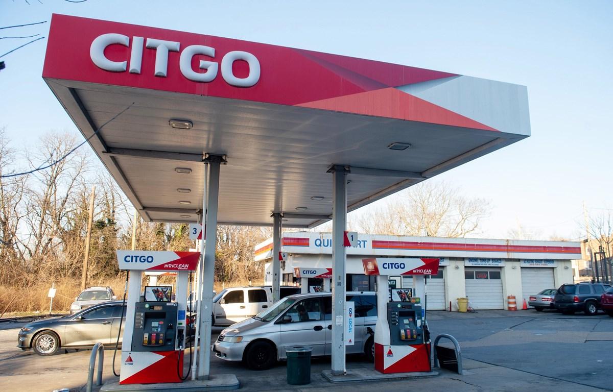 Trạm bán xăng chi nhánh Citgo của Tập đoàn Dầu khí quốc gia Venezuela (PDVSA) ở Washington, DC, ngày 31/1/2019. (Ảnh: AFP/TTXVN)
