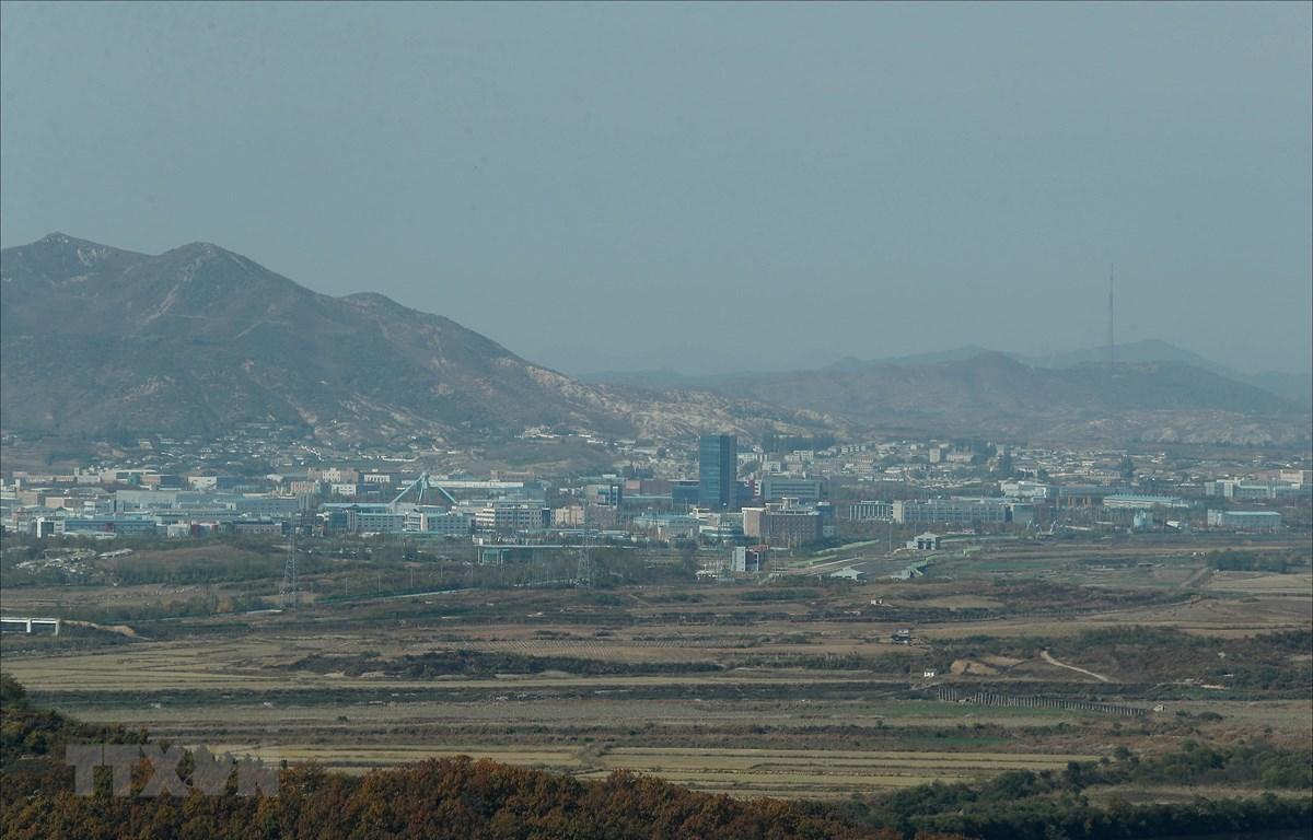 Quang cảnh Khu công nghiệp chung Kaesong. (Ảnh: Yonhap/ TTXVN)
