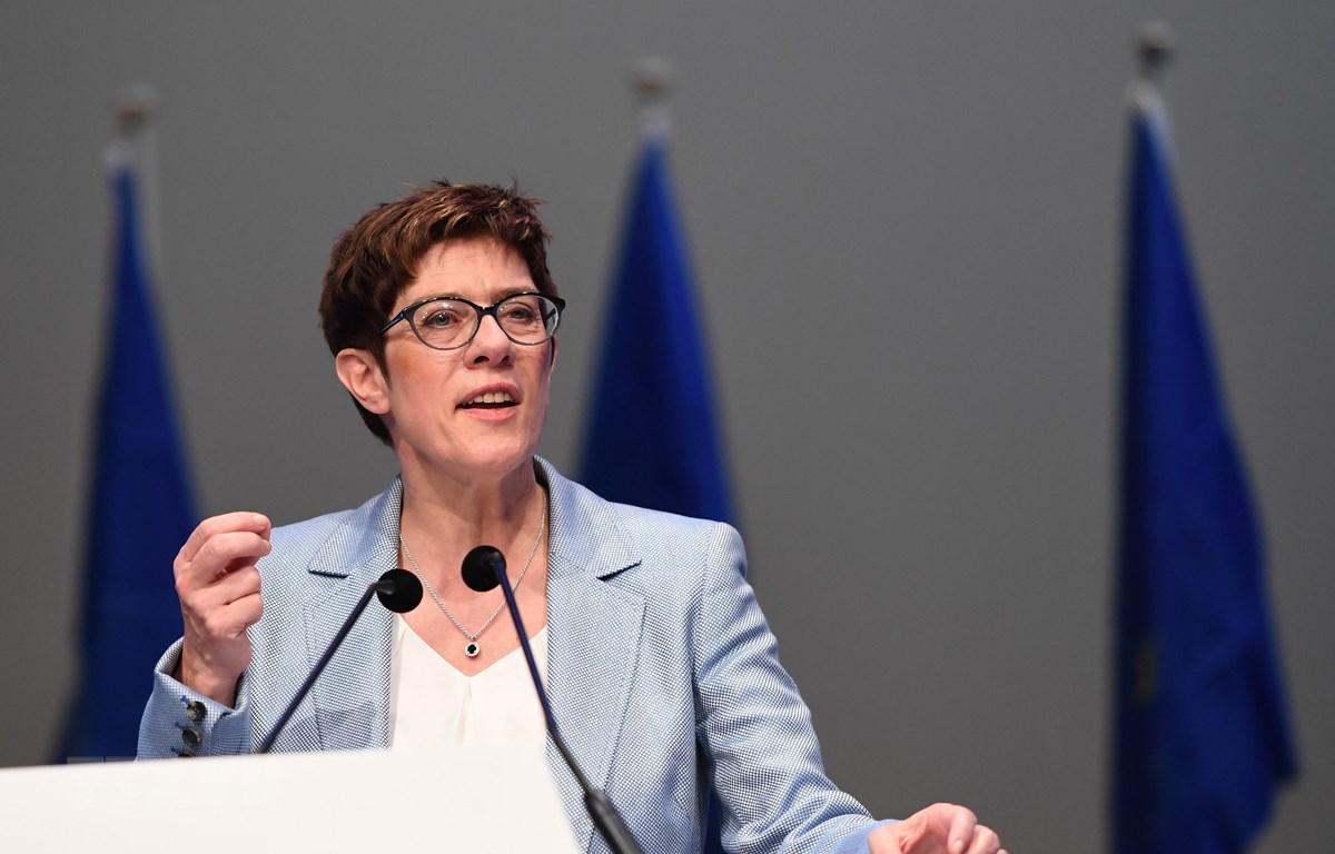 Chủ tịch đảng Liên minh Dân chủ Cơ đốc giáo Đức (CDU) Annegret Kramp-Karrenbauer tại Munich ngày 24/5/2019. (Ảnh: THX/TTXVN)