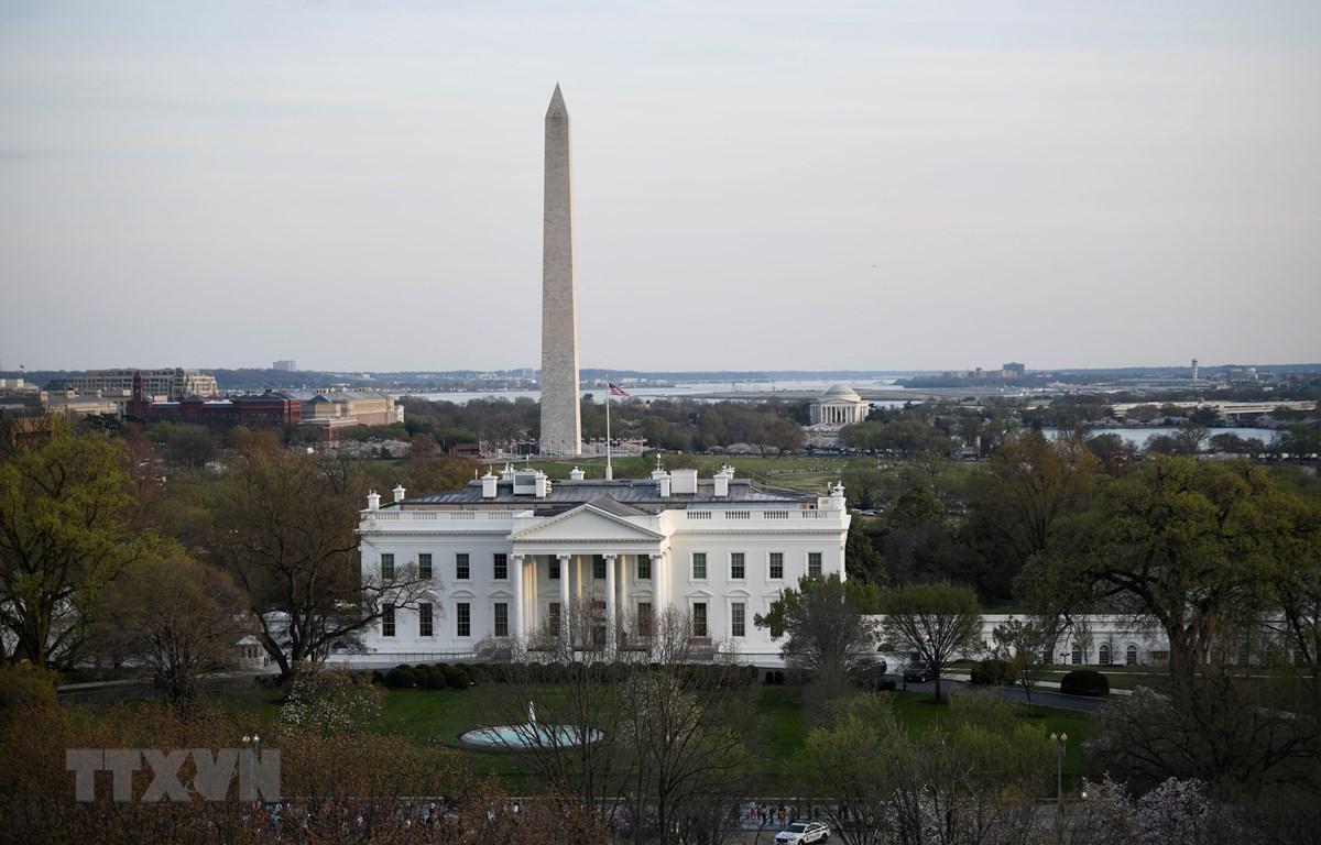 Toàn cảnh Nhà Trắng ở Washington D.C. Ảnh chụp ngày 4/4/2019. (Ảnh: THX/TTXVN)
