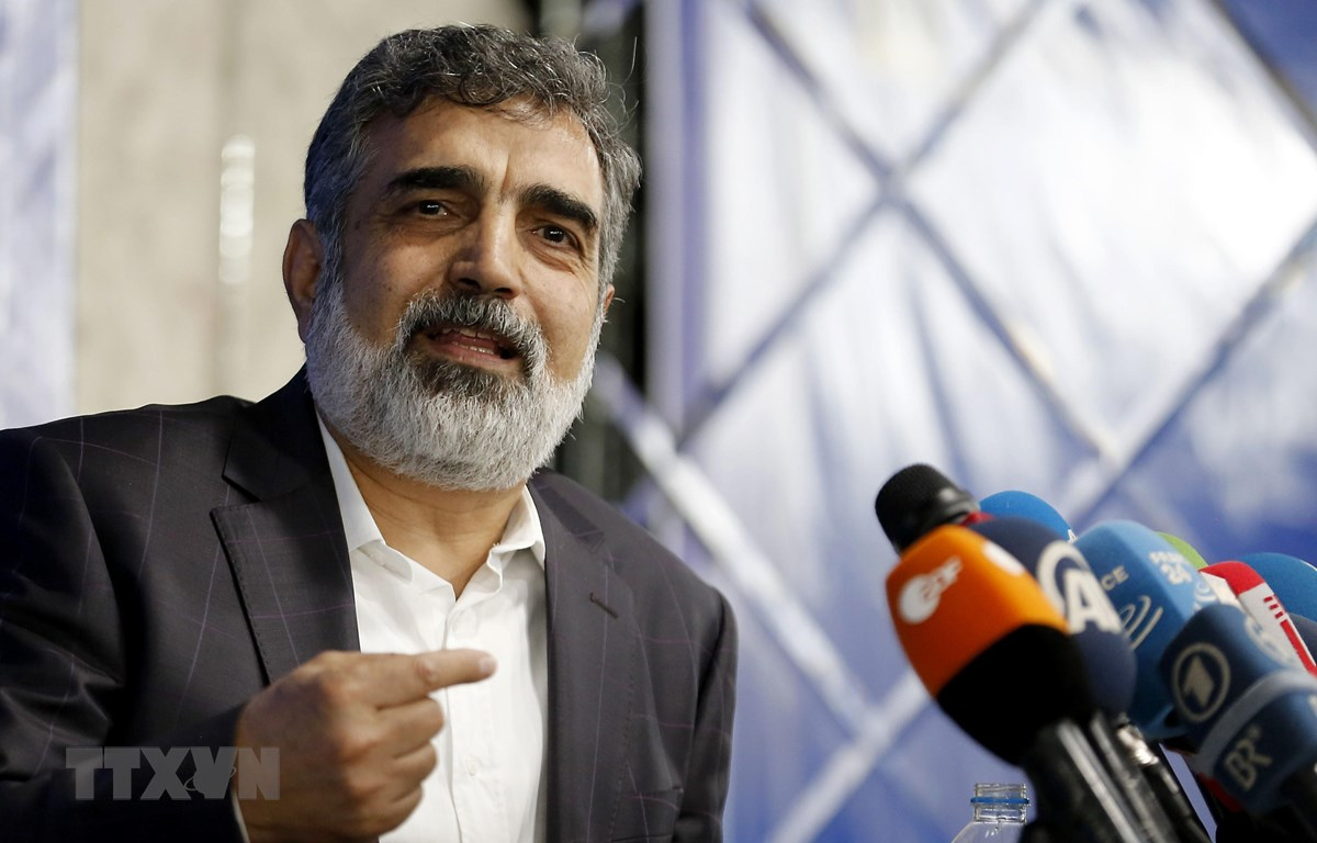 Người phát ngôn Tổ chức Năng lượng Nguyên tử của Iran (AEOI) Behrouz Kamalvandi. (Ảnh: AFP/TTXVN)