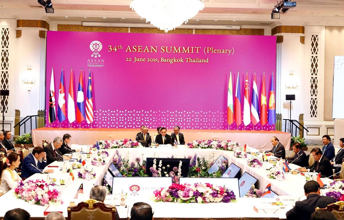 Toàn cảnh Phiên toàn thể Hội nghị cấp cao ASEAN lần thứ 34. (Ảnh: Thống Nhất/TTXVN)