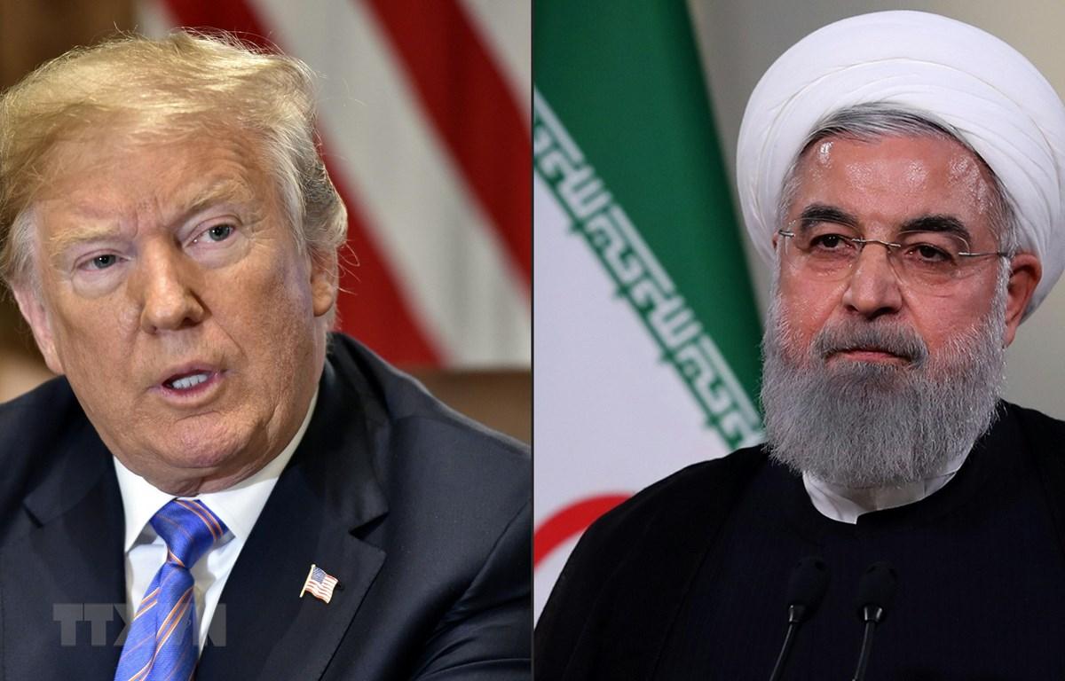 Tổng thống Mỹ Donald Trump (phải) và Tổng thống Iran Hassan Rouhani (phải). (Ảnh: AFP/TTXVN)