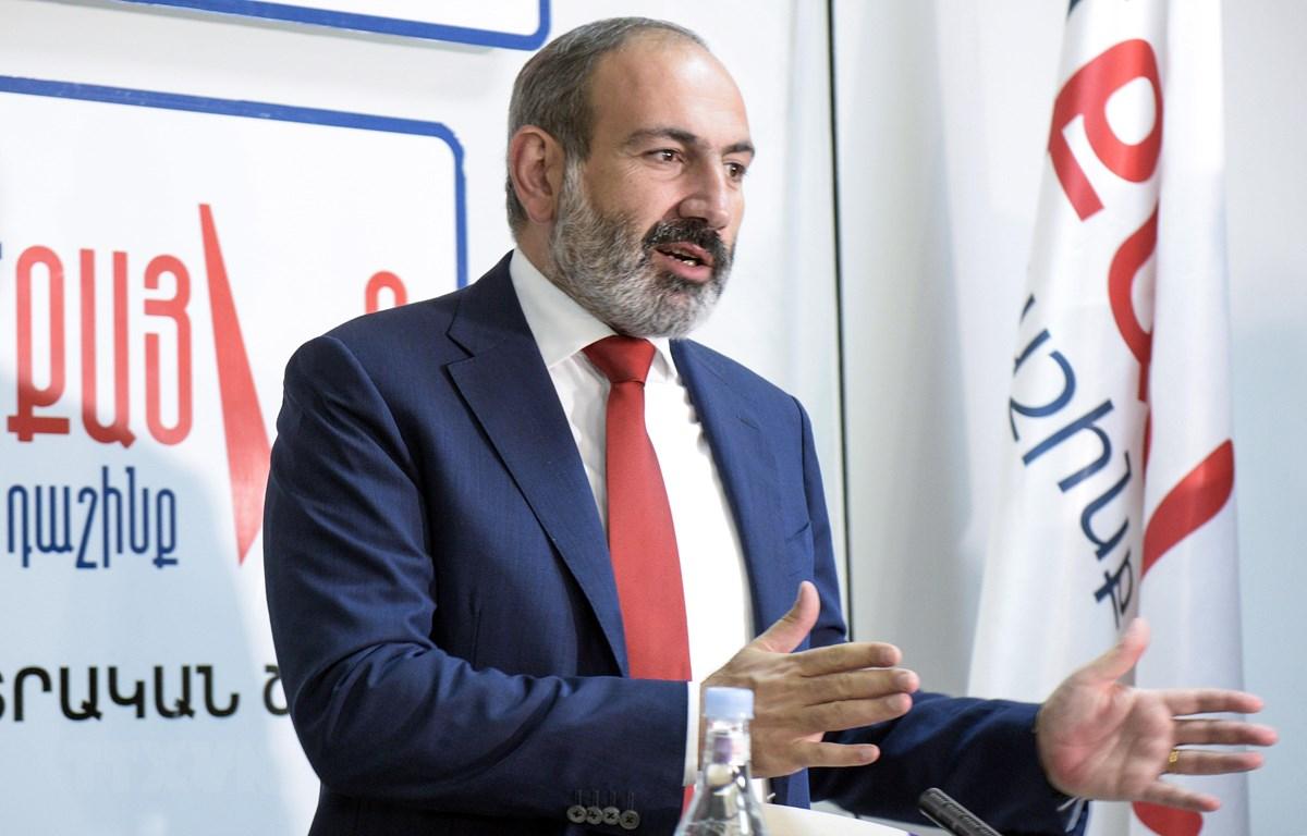 Quyền Thủ tướng Armenia Nikol Pashinyan trong cuộc họp báo ở Yerevan ngày 10/12/2018. (Ảnh: AFP/TTXVN)