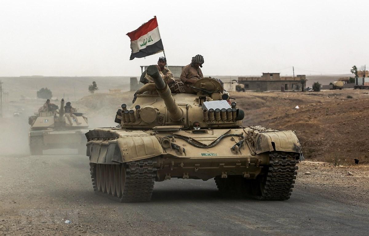 Binh sỹ Iraq trong chiến dịch truy quét khủng bố tại Kirkuk ngày 20/9/2017. (Ảnh: AFP/ TTXVN)