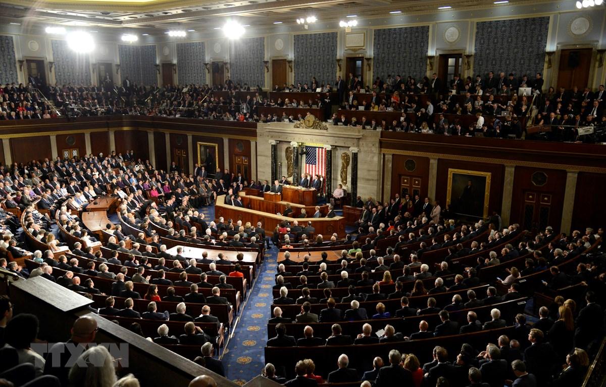 Toàn cảnh phiên họp Quốc hội Mỹ tại Washington, DC. (Ảnh: AFP/TTXVN)