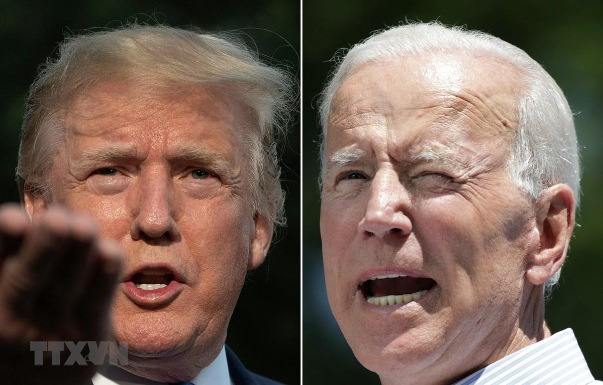 Ứng cử viên Joe Biden (trái) tại và Tổng thống Mỹ Donald Trump. (Ảnh: AFP/TTXVN)