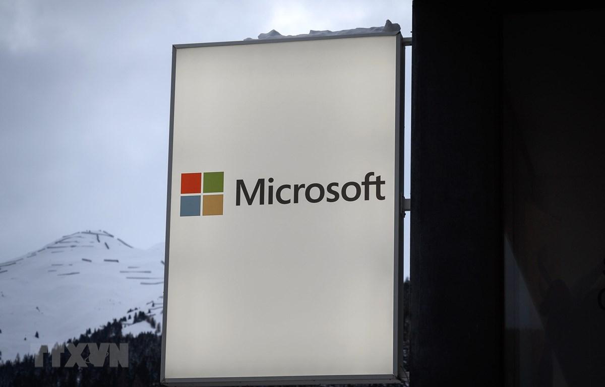 Biểu tượng Microsoft. (Ảnh: AFP/ TTXVN)