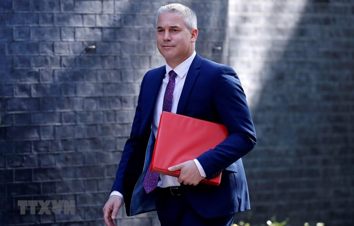 Bộ trưởng Anh phụ trách vấn đề Brexit Stephen Barclay tới dự cuộc họp nội các ở London ngày 7/5/2019. (Ảnh: AFP/TTXVN)