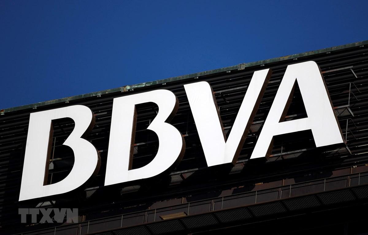 Biểu tượng ngân hàng BBVA của Tây Ban Nha. (Ảnh: AFP/TTXVN)