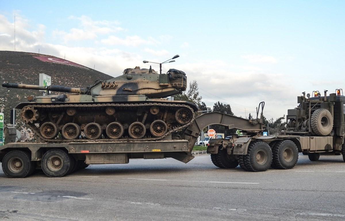 Binh sỹ Thổ Nhĩ Kỳ triển khai tại khu vực Hatay gần biên giới với Syria ngày 12/1/2019. (Ảnh: AFP/TTXVN)