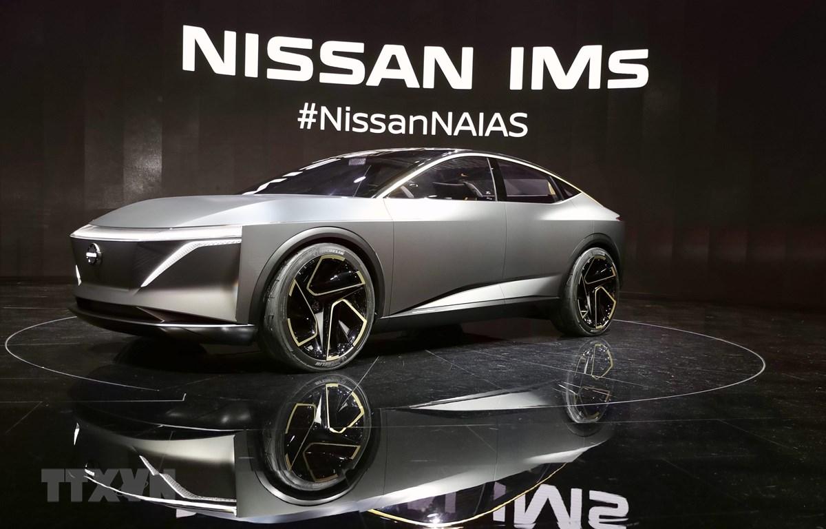 Mẫu ôtô của hang Nissan được giới thiệu tại Triển lãm ô tô quốc tế Bắc Mỹ ở Detroit, Mỹ, ngày 14/1/2019. (Ảnh: THX/TTXVN)