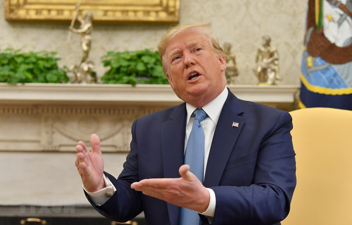 Tổng thống Mỹ Donald Trump phát biểu tại một cuộc họp ở Washington, DC. (Ảnh: AFP/TTXVN)