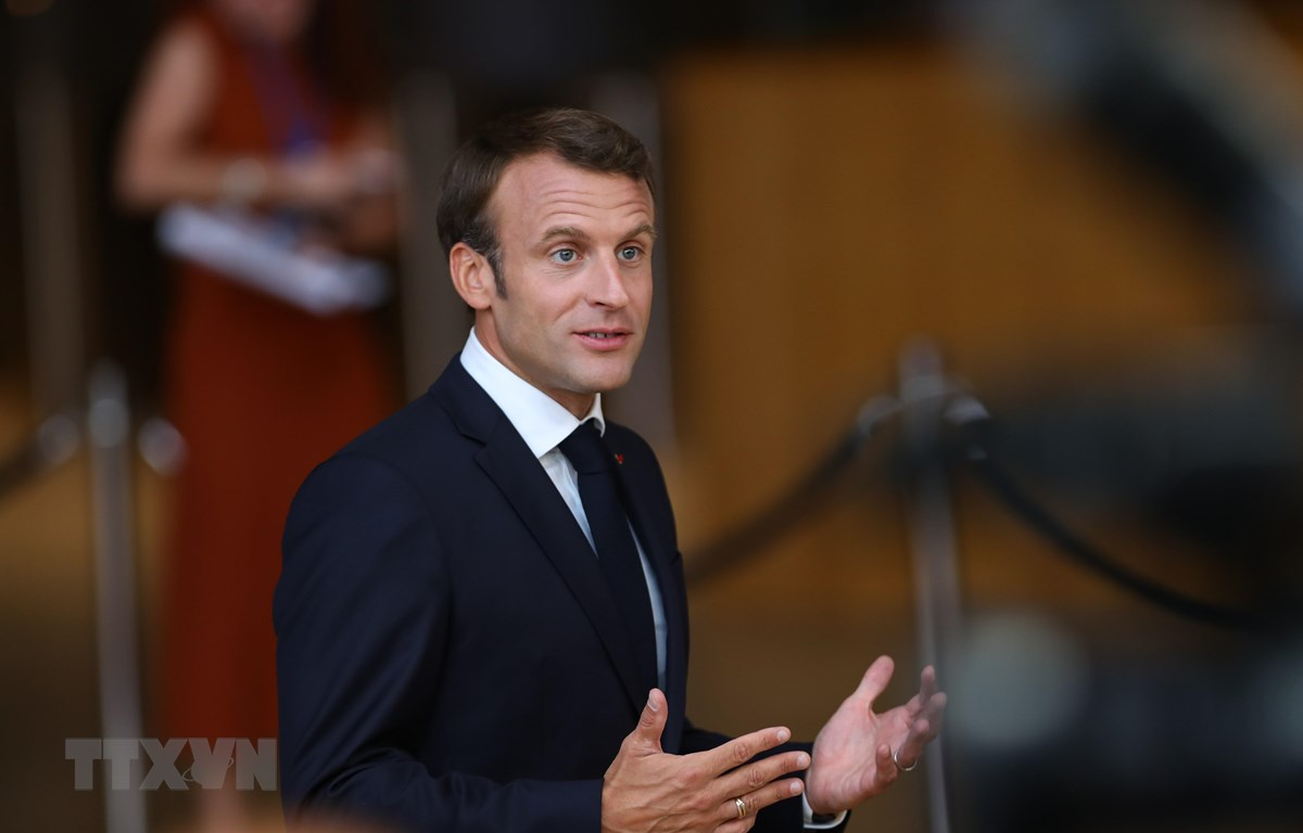 Tổng thống Pháp Emmanuel Macron. (Ảnh: THX/TTXVN)