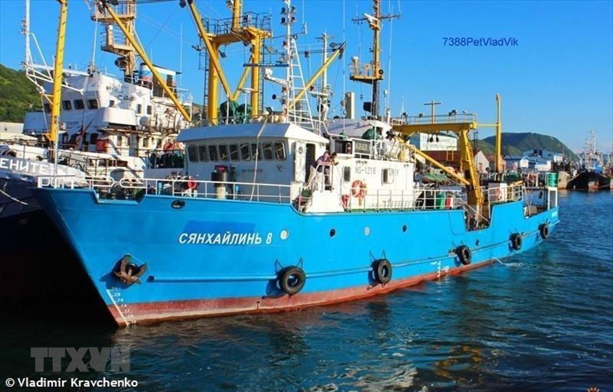 Tàu đánh cá Xiang Hai Lin 8 của Nga bị lực lượng biên phòng Triều Tiên bắt giữ. (Ảnh: Yonhap/TTXVN)