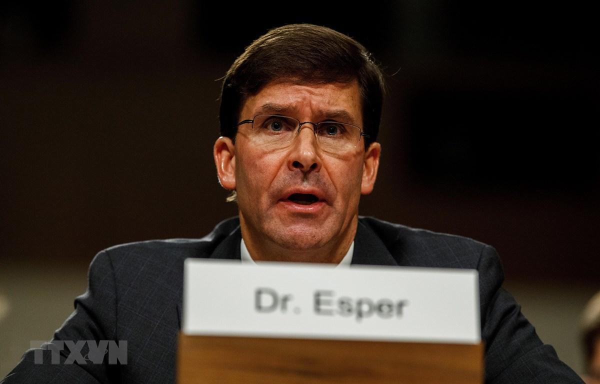 Bộ trưởng Quốc phòng Mỹ Mark Esper. (Ảnh: THX/TTXVN)