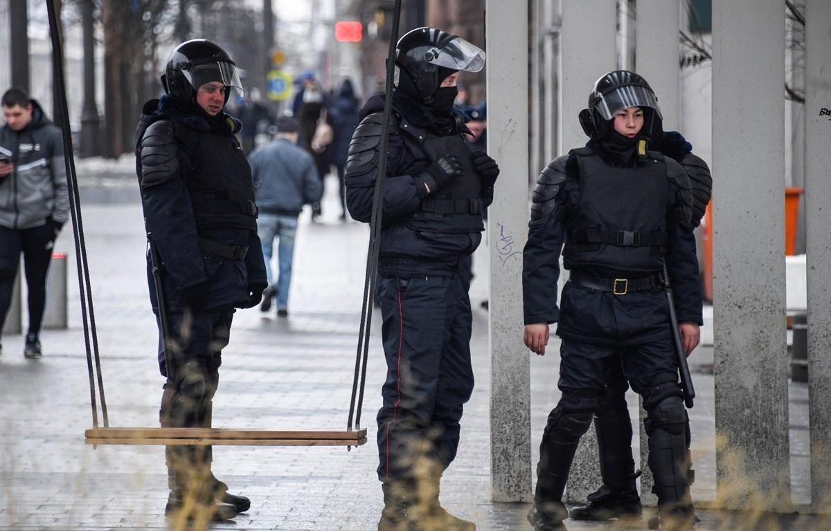 Cảnh sát Nga. (Ảnh: AFP/TTXVN)