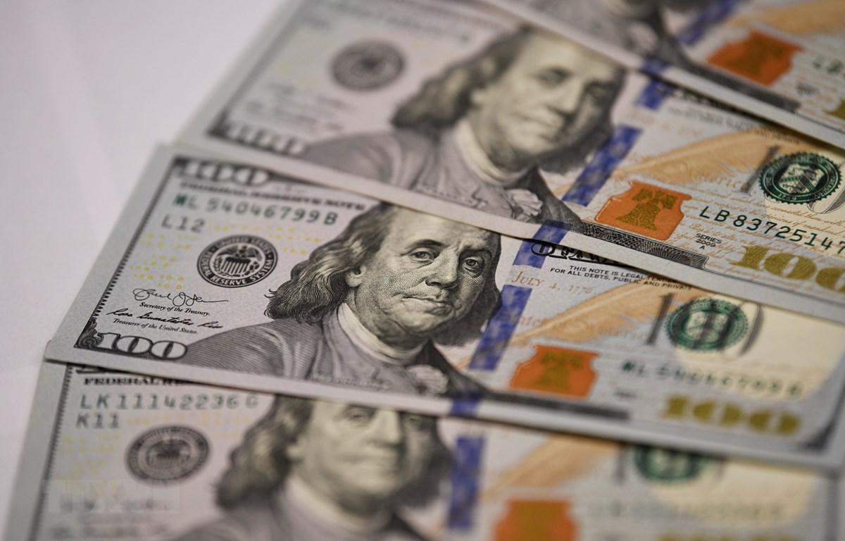 Đồng đôla Mỹ tại Washington D.C. (Ảnh: THX/TTXVN)