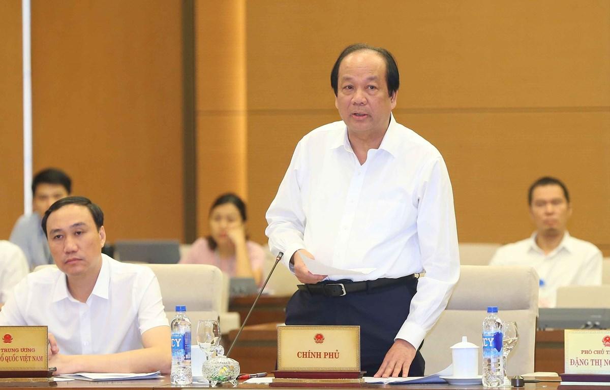 Bộ trưởng, Chủ nhiệm Văn phòng Chính phủ Mai Tiến Dũng phát biểu trong phiên họp thứ 35. (Ảnh: Doãn Tấn/TTXVN)