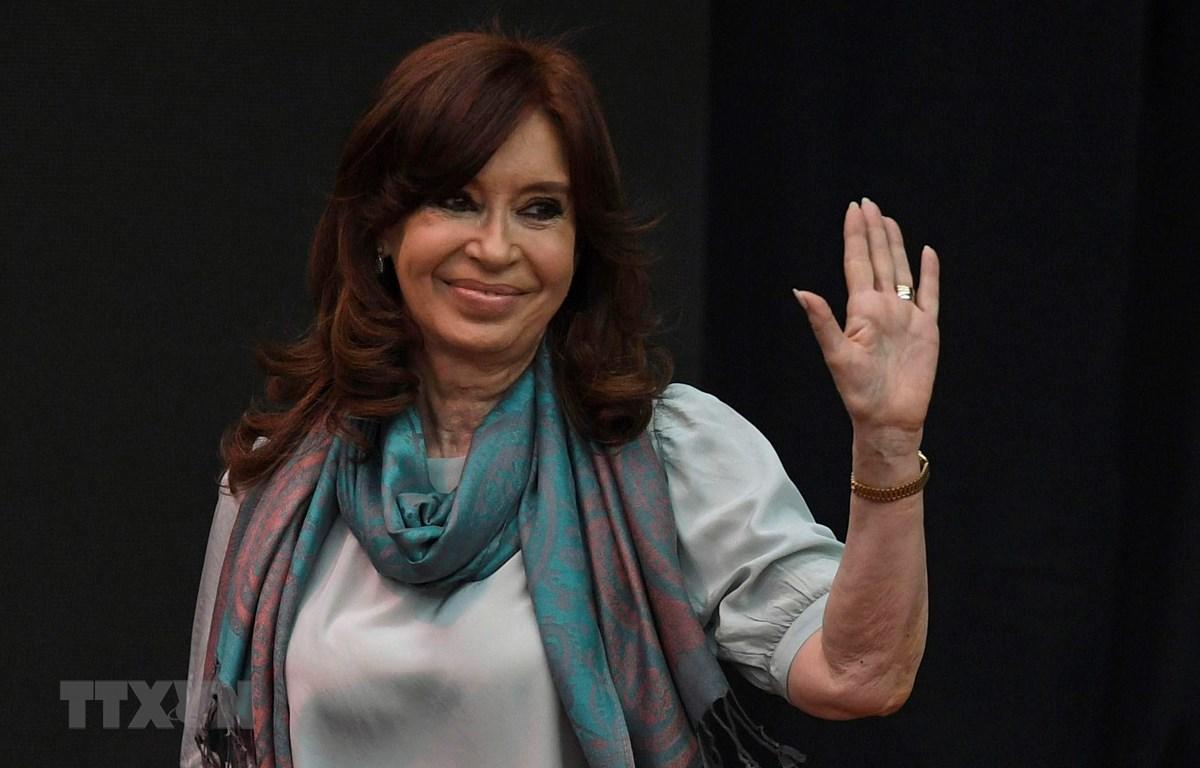 Cựu Tổng thống Argentina Cristina Kirchner tại một sự kiện ở Buenos Aires ngày 19/11/2018. (Ảnh: AFP/TTXVN)