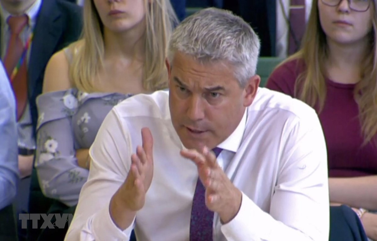 Bộ trưởng Anh phụ trách vấn đề Brexit, ông Stephen Barclay phát biểu tại một ủy ban các nghị sỹ Anh ở London ngày 17/7. (Ảnh: AFP/TTXVN)