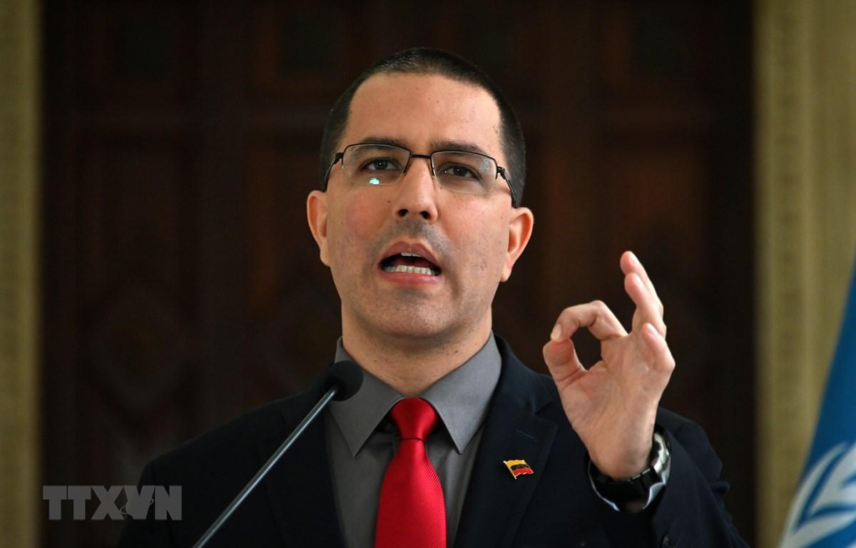 Ngoại trưởng Venezuela Jorge Arreaza. (Ảnh: AFP/TTXVN)