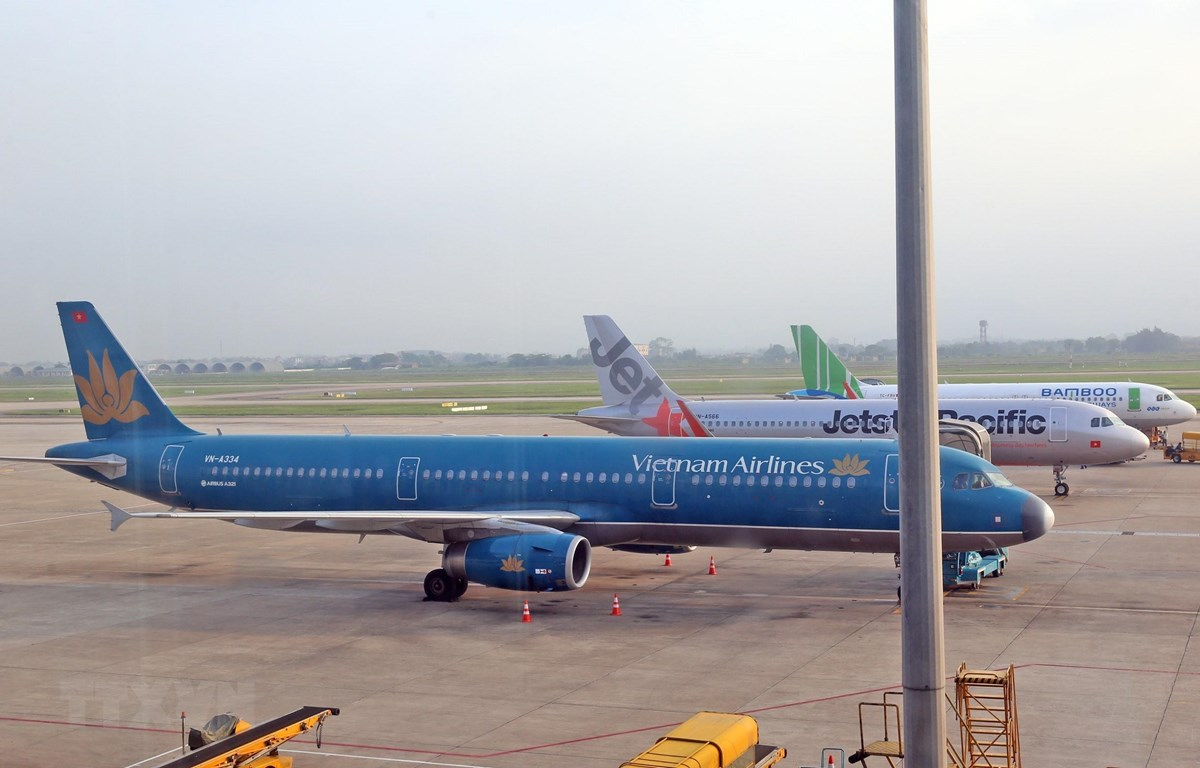 Vietnam Airlines điều chỉnh kế hoạch khai thác nhiều chuyến bay tới Đài Loan và ngược lại do ảnh hưởng của bão Bailu. (Ảnh: Huy Hùng/TTXVN)