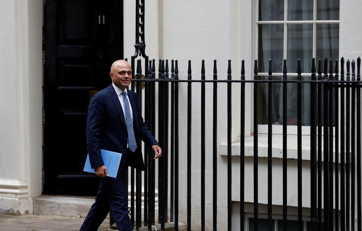 Bộ trưởng Tài chính Anh Sajid Javid tại thủ đô London ngày 4/9/2019. (Ảnh: THX/TTXVN)