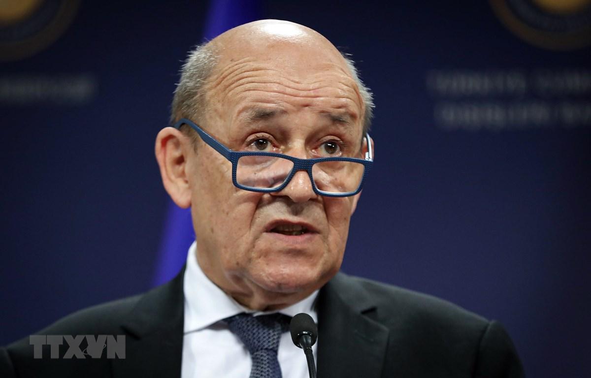 Ngoại trưởng Pháp Jean Yves Le Drian. (Ảnh: AFP/TTXVN)