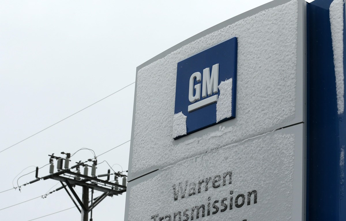 Biểu tượng General Motors tại Trung tâm kỹ thuật Warren, Michigan, Mỹ ngày 26/11/2018. (Ảnh: AFP/TTXVN)