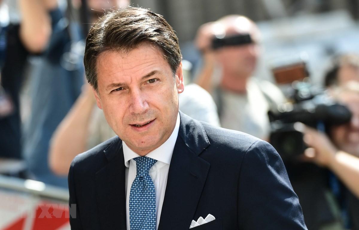 Thủ tướng Italy Giuseppe Conte tại Milan. (Ảnh: AFP/TTXVN)
