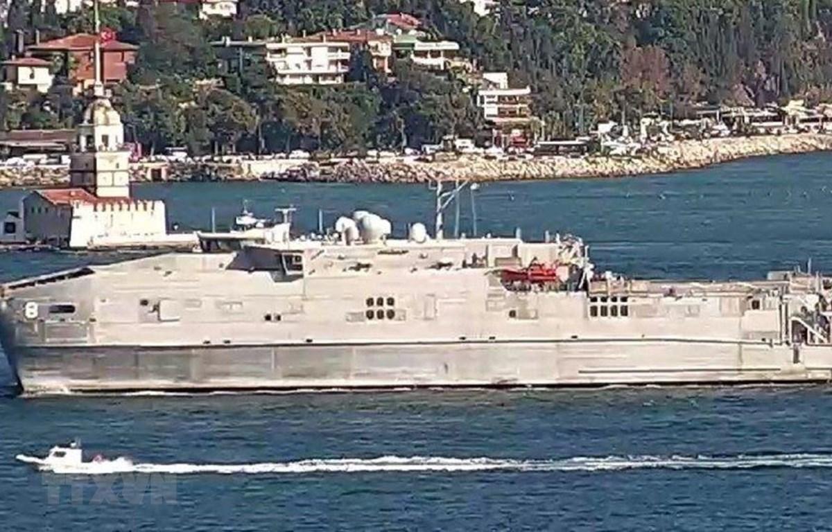 Tàu USNS Yuma của Hải quân Mỹ. (Ảnh: Sputnik/ TTXVN)