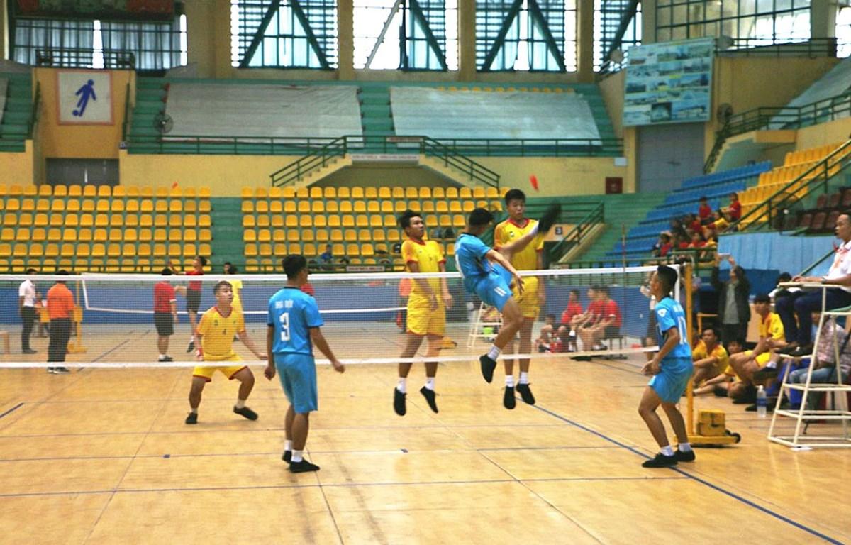 Các vận động viên tham gia thi đấu. (Ảnh: Tường Vi/TTXVN)