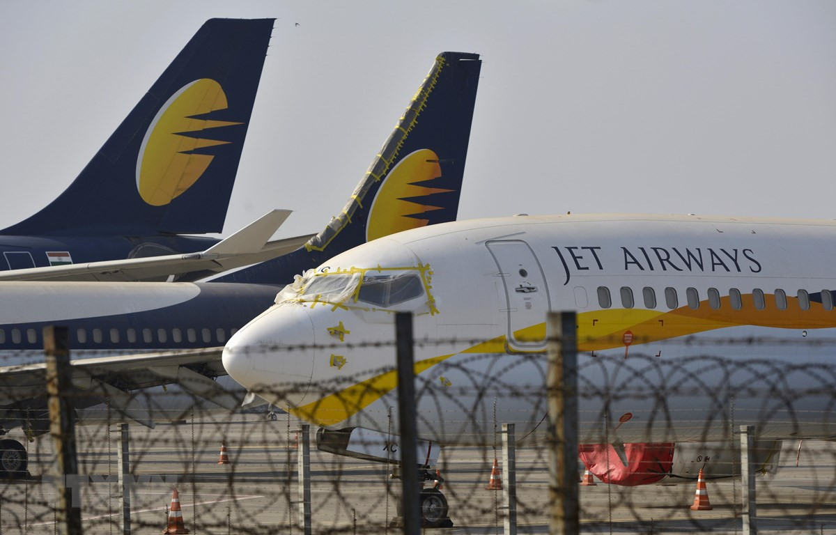 Hãng hàng không Jet Airways của Ấn Độ đã phá sản. (Ảnh: AFP/TTXVN)