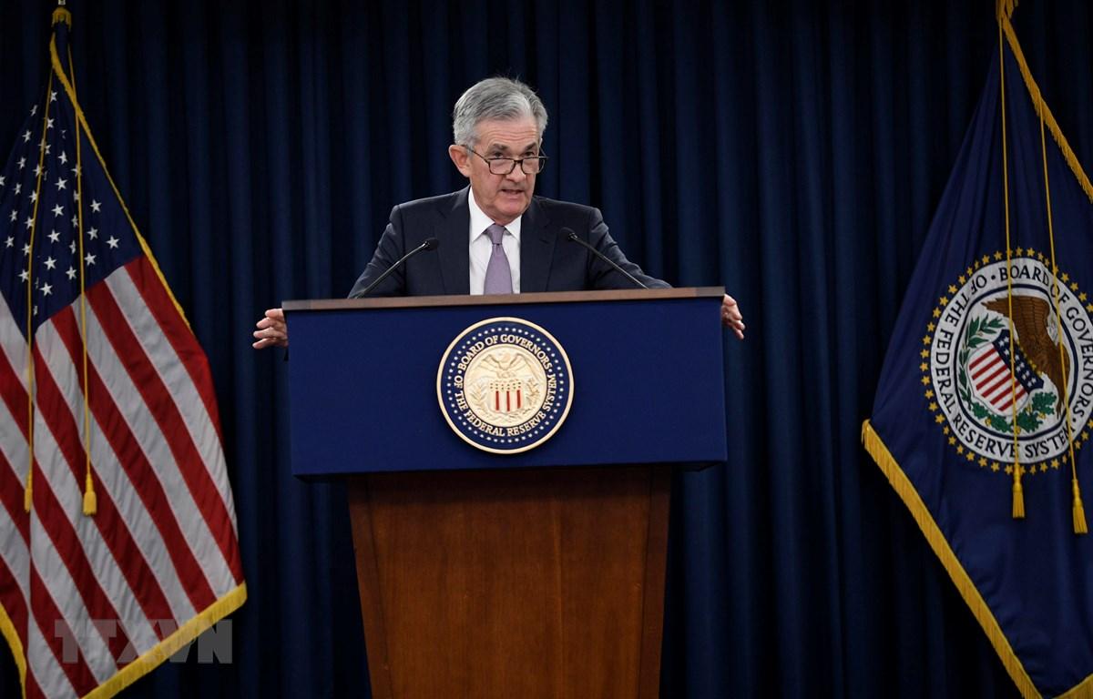 Chủ tịch Cục Dự trữ Liên bang Mỹ (FED) Jerome Powell. (Ảnh: THX/TTXVN)