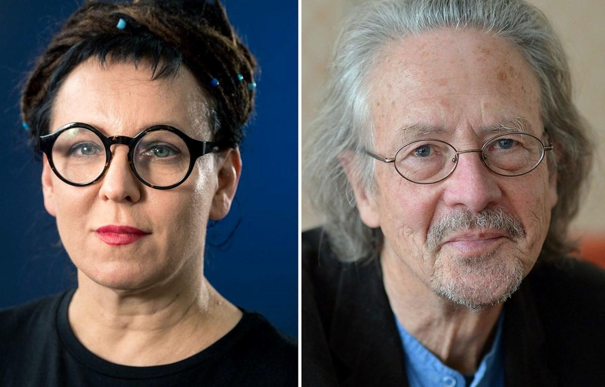 Nhà văn Olga Tokarczuk (trái) và nhà văn Peter Handke đã trở thành chủ nhân Nobel Văn học 2019. (Nguồn: theguardian.com)