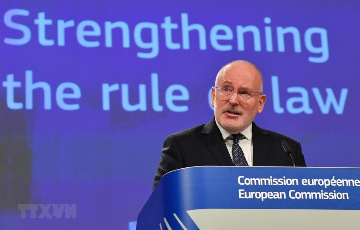 Phó Chủ tịch EC Frans Timmermans. (Ảnh: AFP/ TTXVN)