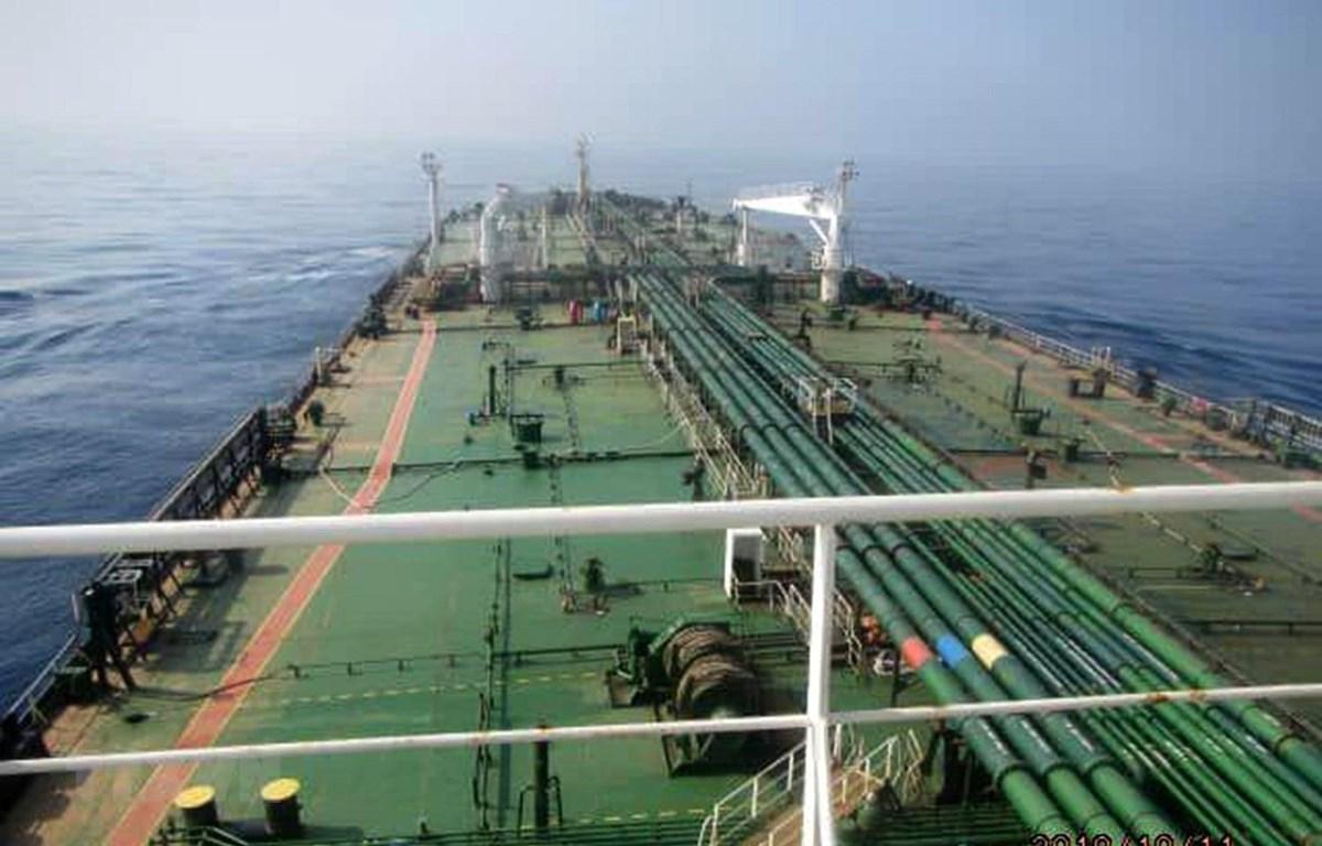 Tàu chở dầu Sabiti của Iran tại Biển Đỏ ngày 10/10/2019. (Ảnh: AFP/ TTXVN)