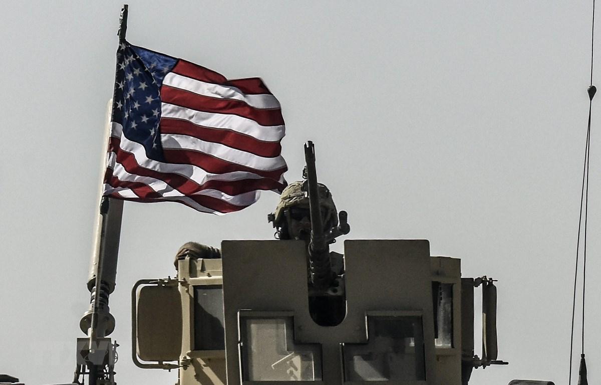 Binh sỹ Mỹ tại thị trấn Kobani, phía Bắc Syria ngày 29/9/2017. (Ảnh: AFP/TTXVN)