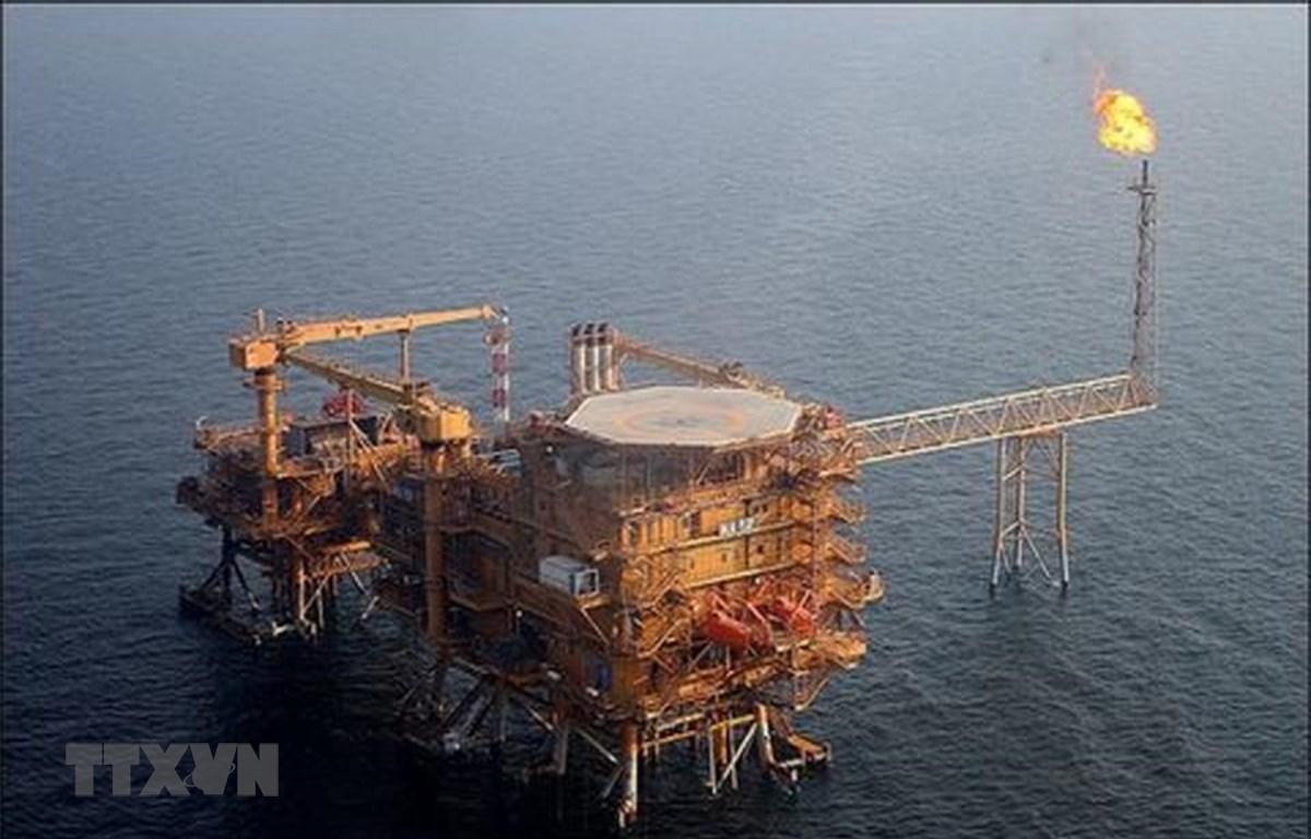 Một cơ sở khai thác khí đốt ở vịnh Persian, Iran. (Ảnh: Offshore/TTXVN)