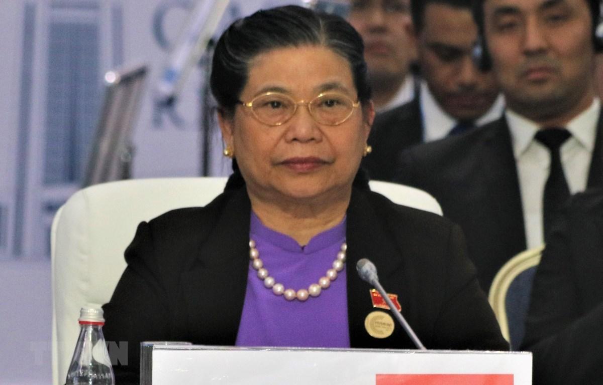 Phó Chủ tịch Thường trực Quốc hội Tòng Thị Phóng sẽ có bài phát biểu quan trọng tại phiên họp toàn thể Đại Hội đồng IPU-141. (Ảnh: Dương Trí -TTXVN)