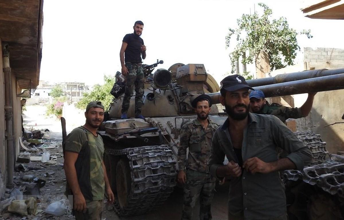 Binh sỹ quân đội Syria. (Ảnh: THX/TTXVN)