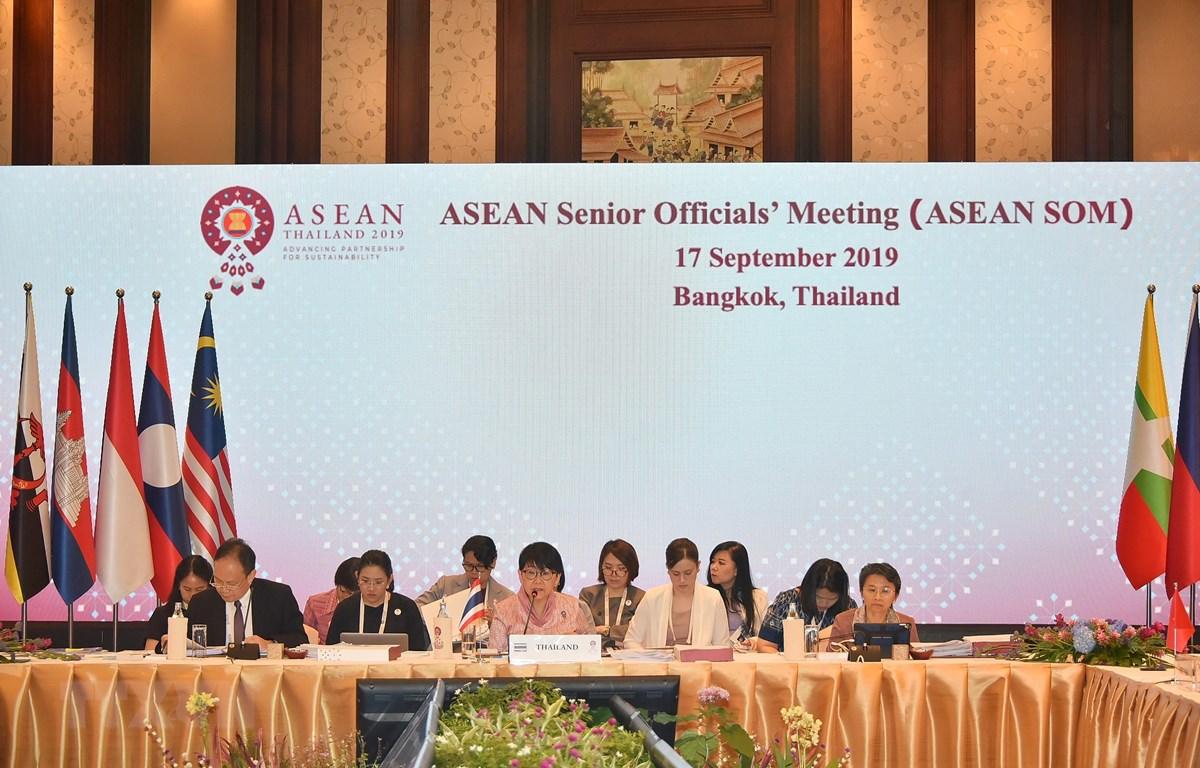 Quang cảnh Hội nghị Quan chức cao cấp (SOM) ASEAN ngày 17/9 tại Bangkok, Thái Lan. (Ảnh: TTXVN)