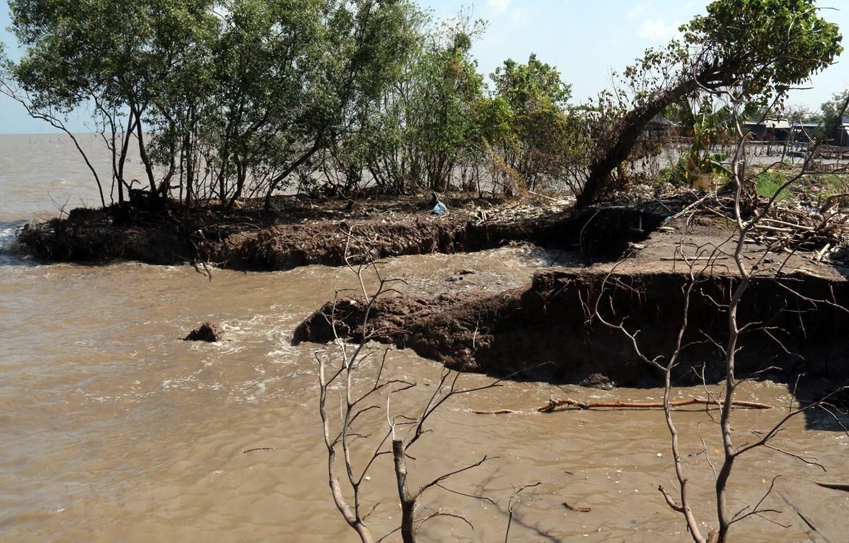 Từ năm 2019-2020 Quảng Trị cần 273 tỷ đồng để xử lý khẩn cấp các vị trí sạt lở bờ sông, bờ biển đặc biệt. (Ảnh minh họa: Lê Sen/TTXVN)