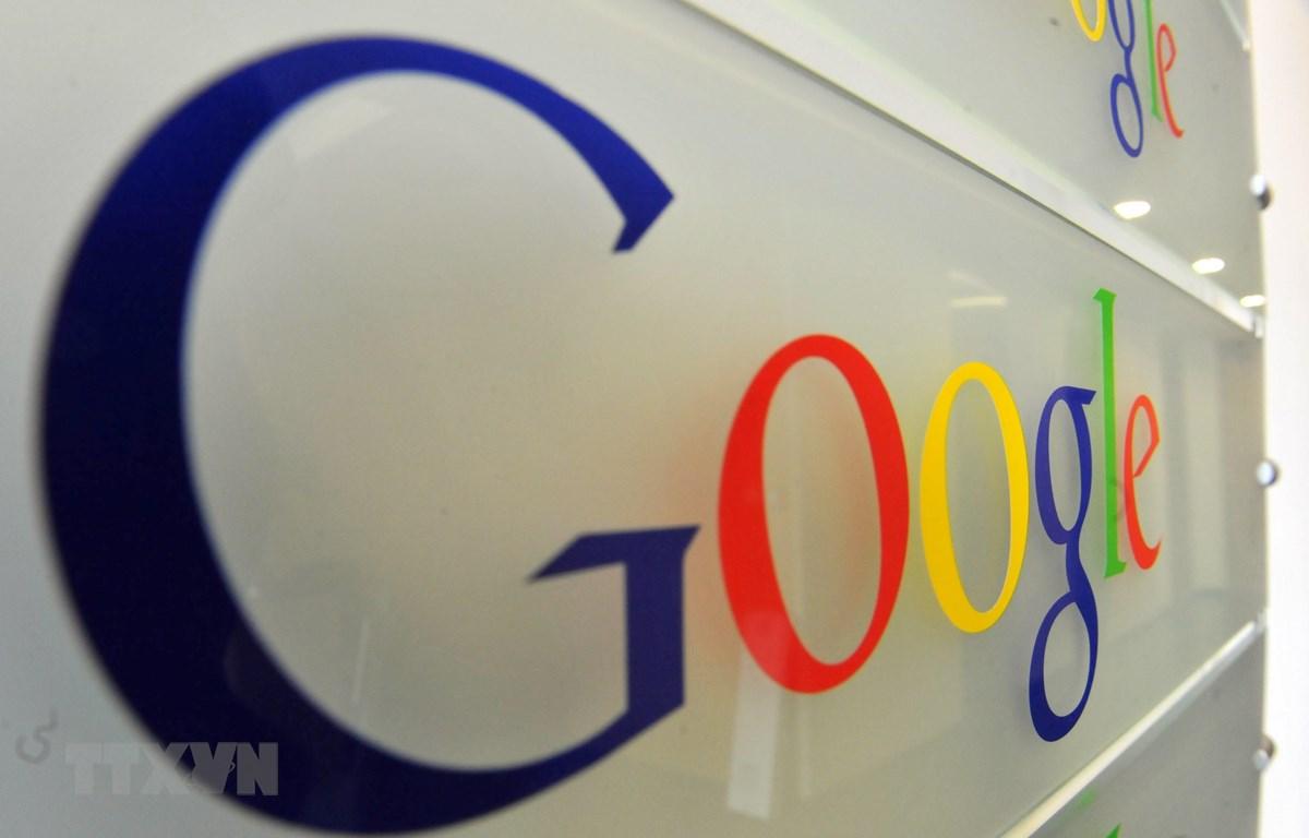 Biểu tượng Google tại văn phòng ở Brussels, Bỉ. (Ảnh: AFP/TTXVN)