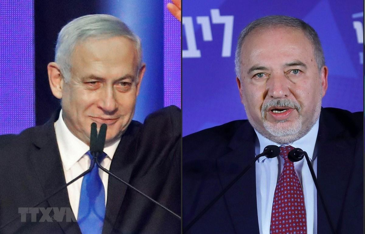 Lãnh đạo đảng Likud, Thủ tướng Israel Benjamin Netanyahu (trái), lãnh đạo đảng Xanh-Trắng Benny Gantz. (Ảnh: AFP/TTXVN)