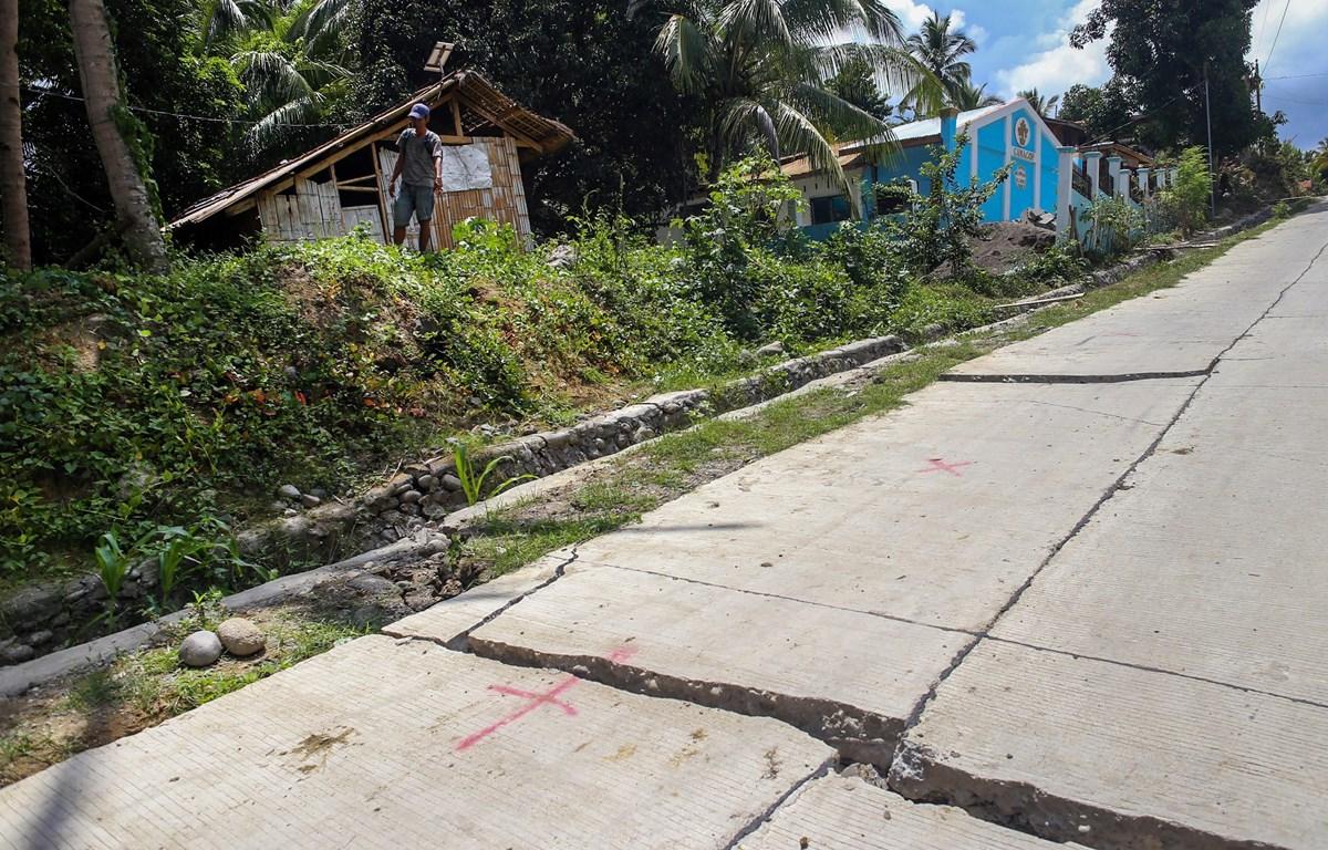 Ngày 17/10/2019, tỉnh Davao del Sur thuộc đảo Mindanao, miền Nam Philippines cũng hứng chịu trận động đất 6,4 độ. (Ảnh: AFP/TTXVN)
