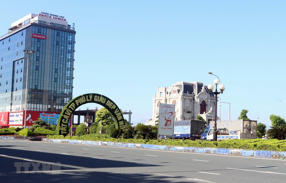 Một góc thành phố Phủ Lý, Hà Nam. (Ảnh: Đại Nghĩa/TTXVN)
