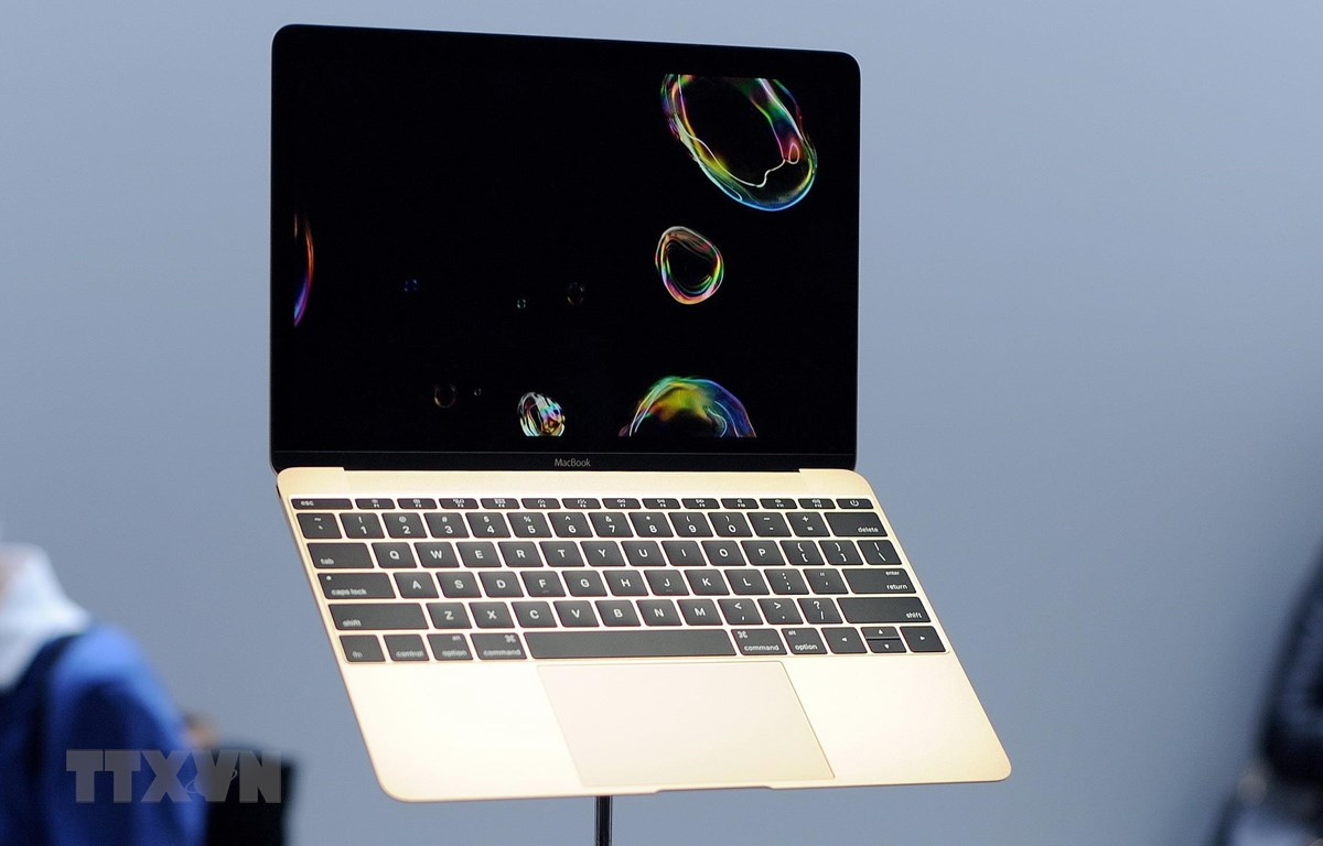 Máy tính MacBook của Apple. ( Ảnh: AFP/TTXVN)