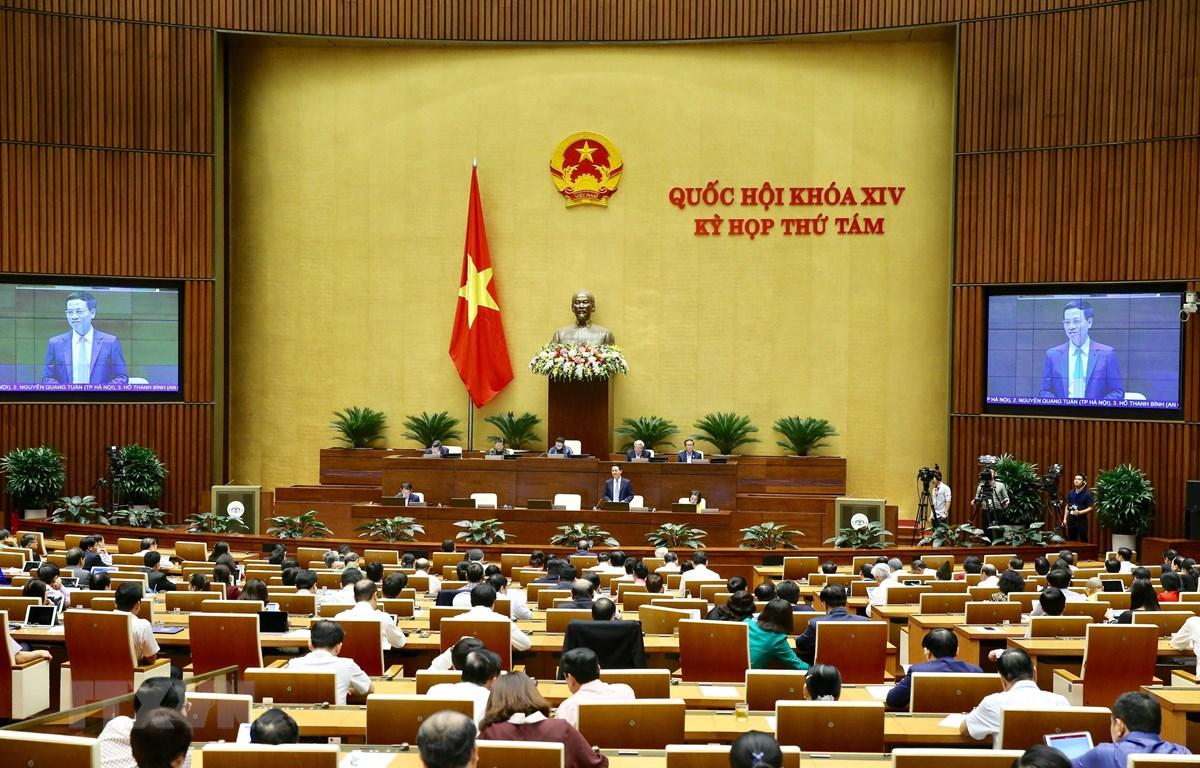 Toàn cảnh Kỳ họp thứ 8, Quốc hội khóa XIV. (Ảnh: Dương Giang/TTXVN)